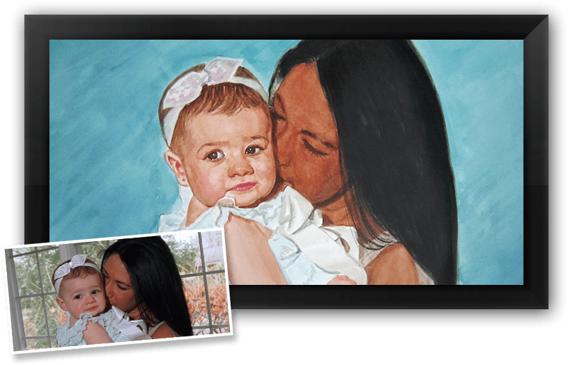 This is a perfect example of our portrait painting service