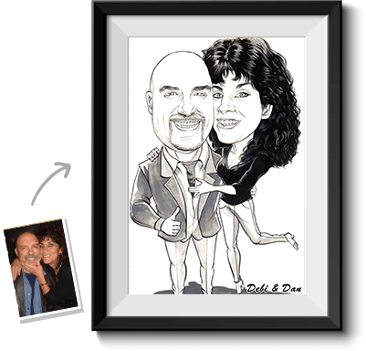 This is a caricature drawing done from photo