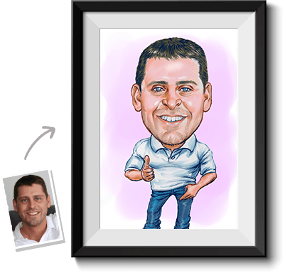 This is a colored caricature done by a caricaturist