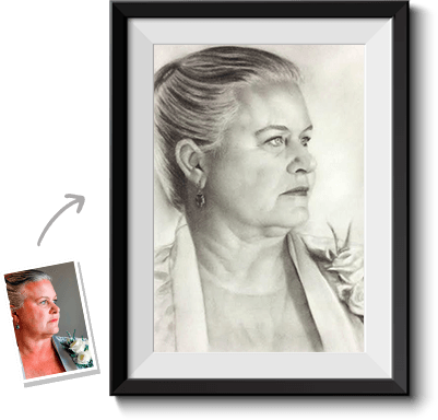 You can get a handmade portrait done by a charcoal drawing artist