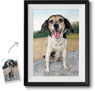 This is an example of how a pet portrait looks