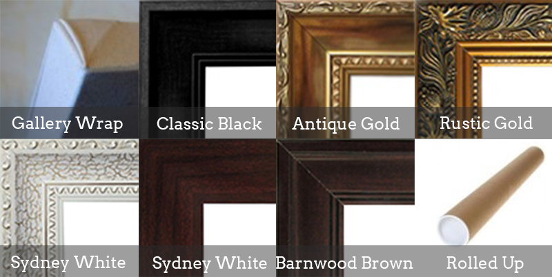 Choices of frames at Whataportrait.com