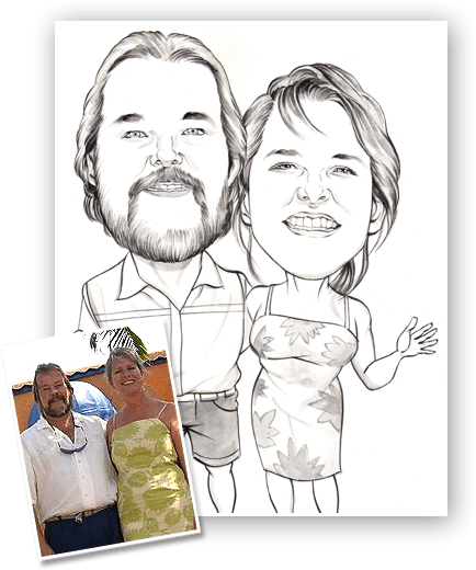 Hire a caricature artist for a holiday caricature