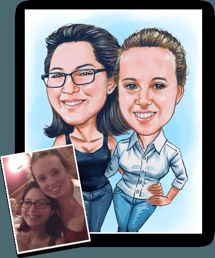 make a caricature of a friend