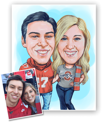 This is an example of a caricature gift