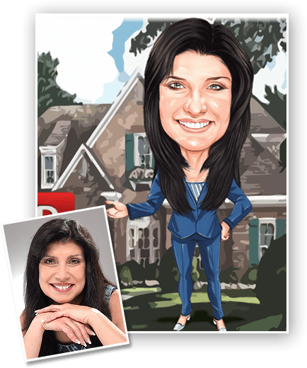 This is an example of a caricature of a real estate agent