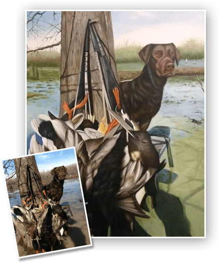 This is an example of a Pet Portrait we did for an Australian customer