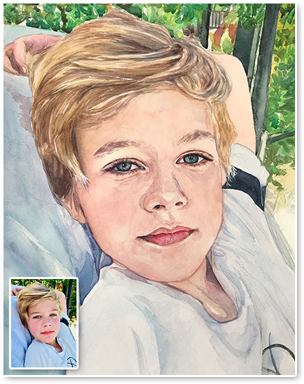 celebrity watercolor portraits
