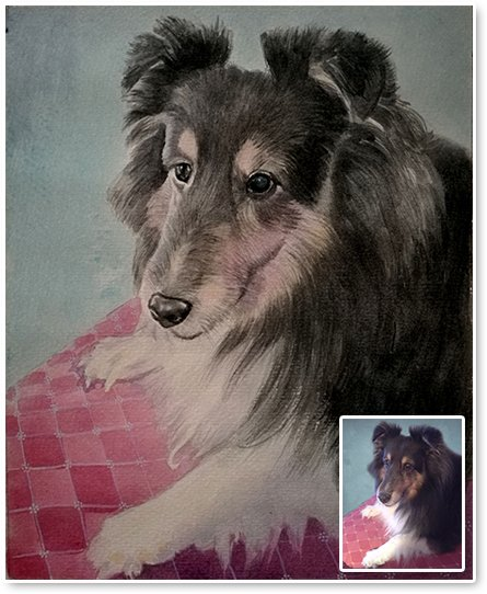 dog portraits watercolor