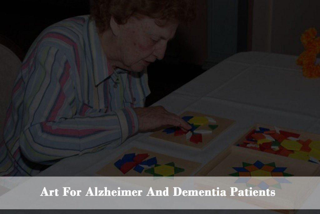 Drawing, painting and art help Alzheimer's and dementia patients to improving attention span, self-esteem and social behavior