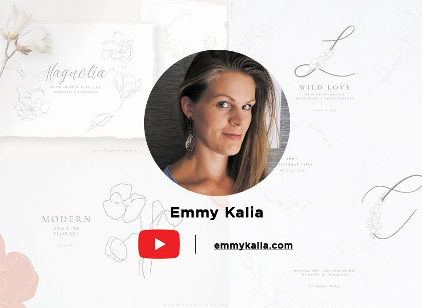 Emmy Kalia is yet another extremely talented young artist who provides super cool tutorials