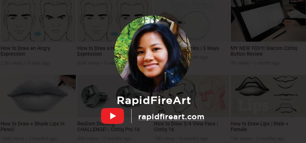 RapidFireArt Tutorials is a platform led by an amazing artist named Darlene